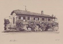 Hubby's sketch of the amazing villa Bellosguardo